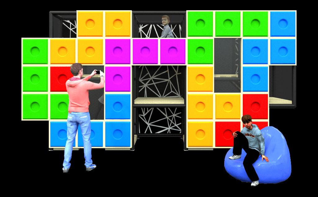 Tetris game themed play photo corner